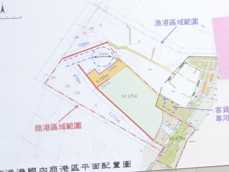 在南寮渔港南方规划的新竹商港平面图(图片/城市行销处)